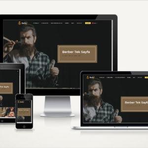 demo-ekrani-berber-tek-sayfa